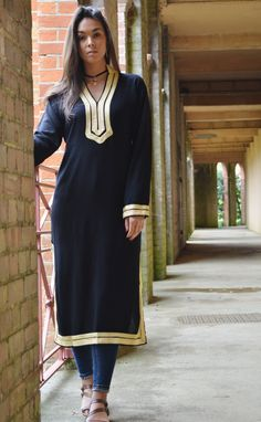 Autumn Mariam Style Black Caftan Kaftan - Perfect as loungewear,resortwear,spa robe,gift, winter dress, Birthdays or Maternity Gifts by MaisonMarrakech on Etsy