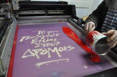 The Game is On the Streets / Silkscreen Poster by tind , via Behance