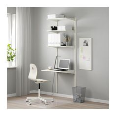 IKEA - ALGOT, Wall upright/shelves, The parts in the ALGOT series can be combined in many different ways and easily adapted to your needs and space.Since you only need to click in the brackets, shelves and accessories, it is easy to assemble, adjust and change your storage solution.Can be used anywhere in your home, even in damp areas like the bathroom and under covered balconies.Can also be used in bathrooms and other damp indoor areas.You click the brackets into the ALGOT wall uprights...