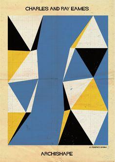 """""""Formas arquitetônicas em ilustrações minimalistas"""""""