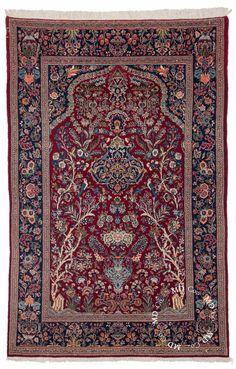 4×7 Persian Kashan Rug