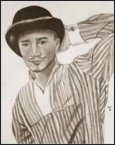 "Portrait: Taras Manko in ""HOI Passion"" Approx. time: 22 hours Drawn with 6 different pencils"