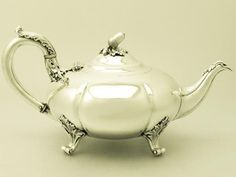 vintage teapots with stand | ... Sterling Silver Teapot by Richard Hennell III - Antique Victorian