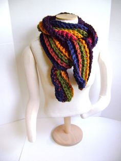 $85 Crochet Scarf Cowl - Chunky Chic and Ready to Ship