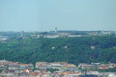 Blick über Prag aus dem Fernsehrturm Žižkover Fernsehturm
