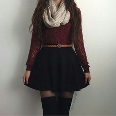 50 Trendy How To Wear Skirts Casually Winter Amazing style skater skirt outfits ideas Black Skater Skirt Outfit, Black Skirt Outfits, Winter Skirt Outfit, Skater Skirts, Cute Fall Outfits, Girly Outfits, Outfits For Teens, Cool Outfits, Casual Outfits
