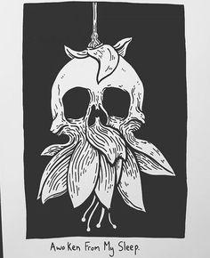 İnstagram: baileyillustration Matt Bailey, Dark Drawings, Skeleton Art, Black And White Drawing, Dope Art, Art Graphique, Skull And Bones, Skull Art, Art Inspo