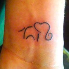 Elephant on Wrist Tattoo Idea
