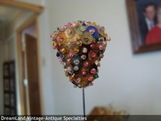 multicolored beaded hat pin -  MAKE $ OFFER DreamLandSpecialties@comcast.net
