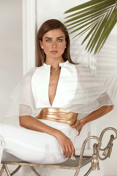 Elegant modernity – a mix of organza and leather - gets dressed up in the newest resort-season RL Collection with a touch of gold. See more: http://rlauren.co/1EoICuE