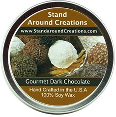 Premium 100 All Natural Soy Wax Aromatherapy Candle Tin Gourmet Dark Chocolate A rich slightly bitter aroma of gourmet dark chocolate Naturally Strong Highly Scented Aromatherapy Candles, Bitter, Acai Bowl, The 100, Wax, Chocolate, Breakfast, Natural, Food