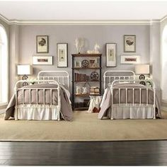 Tilden Standard Metal Bed White Twin