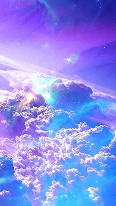 Wallpaper Android – Cotton candy clouds up in the sky – what a delightful, dazzling nature photo 500 x 888 Look Wallpaper, Wallpaper Space, Scenery Wallpaper, Purple Wallpaper, Aesthetic Pastel Wallpaper, Colorful Wallpaper, Aesthetic Wallpapers, Wallpaper Desktop, Mobile Wallpaper