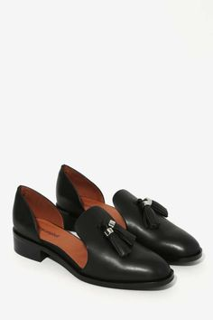 Jeffrey Campbell Open Case Leather Flat - Black - Newly Added | Night Fever | Jeffrey Campbell | Flats