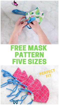 SEW the BEST Fitting Medical MASK with FILTER, FREE Pattern & FIVE Sizes!!!  <br> Learn to Sew a Fitted Face Mask with Filter Pocket, Removable Nose Wire, T-Shirt Tie and Casing. A tutorial by Sweet Red Poppy. Click here now!! Diy Mask, Diy Face Mask, Homemade Face Masks, Face Mask Peel Off, Sewing Patterns Free, Free Sewing, Pattern Sewing, Dress Pattern Free, Craft Patterns