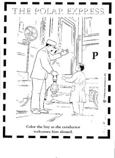 coloring pages of polar train express - Polar Express Train Coloring Page