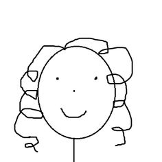 this is how everyone draws me! curly girl problems!! www.naturallycurly.com