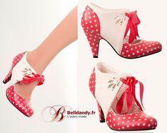 Chaussures Escarpins Pin-Up Rockabilly 50s Mary Beth Pois Polka  http://www.belldandy.fr/chaussures-escarpins-pin-up-rockabilly-50-s-mary-beth-pois-polka.html https://www.facebook.com/belldandy.fr/photos/a.338099729399.185032.327001919399/10154229147194400/?type=3