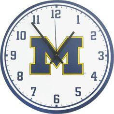 NCAA Michigan Wolverines Wooden Wall Clock