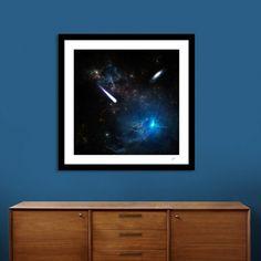 Découvrez «La comete», Édition Limitée Affiches d'art par Alain Gaymard - À…