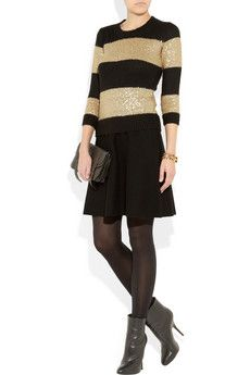 J.Crew  Sequin-striped fine-knit sweater  $120