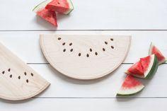 Watermelon Shaped Maple Cutting Board Summer Entertaining AHeirloom Gift Hostess Gift  Wedding Gift Summer Entertaining
