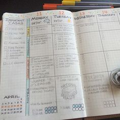 weekly deco Loving this month's colored dots in my weekly spread. It adds just a little color to brighten my day as I plan this crazy week. Oh, Happy National Grill Cheese Day! Organization Bullet Journal, Bullet Journal Layout, Planner Organization, My Journal, Bullet Journal Inspiration, Bullet Journals, Organizing Ideas, Education Positive, Bujo