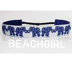 Elephant Love ~  Non Slip Adjustable Headband
