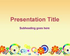 41 best floral powerpoint template images on pinterest ppt free spring flower powerpoint templates is a free ppt slide background with a lot of different flowers toneelgroepblik Choice Image