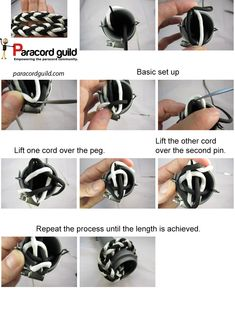 Two color spool knitting instructions - Paracord guild