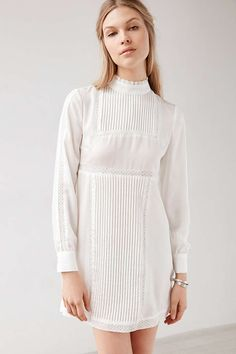 Alice & UO Gina Victorian Mock-Neck Dress - Urban Outfitters