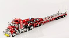 Drake Trailer Combinations : Kenworth T909 Prime Mover with Drake 2x8 Dolly and 4x8 Swingwing Trailer Rosso Red