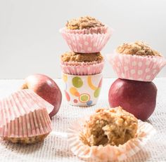 Healthy Apple Cinnamon and Almonds. Low fat. Low sugar. With crunchy top. Best breakfast muffins ever.