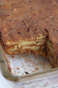 Brownie Cake, Pie Cake, Healthy Cake, Healthy Baking, Healthy Food, Just Desserts, Dessert Recipes, Happy Foods, Banoffee Pie