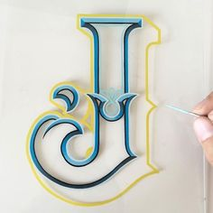 Awesome hand painted 'J' by @eddyartist - #typegang - typegang.com | typegang.com #typegang #typography