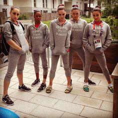 Team USA - The Fab Five (looking tough) Photo by alyraisman