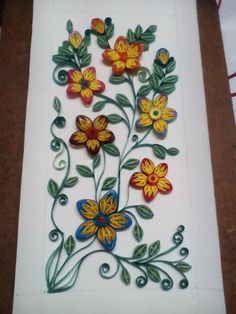 Quilled multicolored flowers