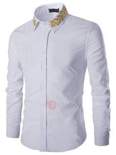 RDHOPE-Men Polka Dots No-Iron Fit Relaxed-Fit Comfort Soft Longshirt