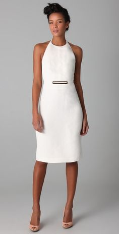 "Derek Lam  Halter Dress with Metal Buckle -Another simply lovely dress - emphasis on ""simply."""