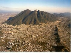 Monterrey Metropolitan Area around the beautiful Cerro de la Silla Saddle Hill