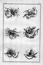 1770 - Ornament Garten Gärtnerei Blumen Floristik Kupferstich flowers 88151