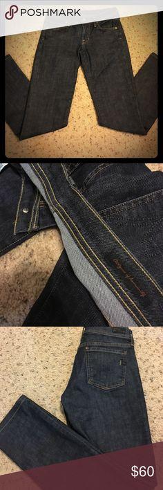 "Citizens of humanity jeans! Like new!! Dark wash. Size 24. Inseam 29"" ava #142, low waist, stretch, straight leg. 5 pockets. Citizens of Humanity Jeans Straight Leg"