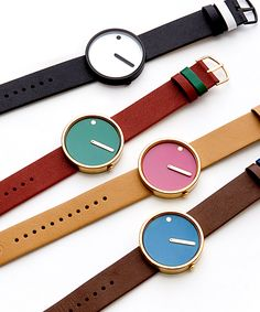 ピクトウォッチ グリーン×ゴールド×レッド 腕時計 ユニセックス (PICTO Watch ローゼンダール)