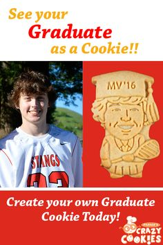 See your graduate as a cookie!! Graduation party favors that are as unique as your graduate! Discover the magic at www.parkerscrazycookies.com As seen on the Food Network Channel and the Today Show!