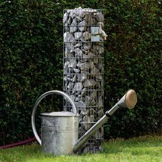 Gabion Water Tap Column | Garden Décor