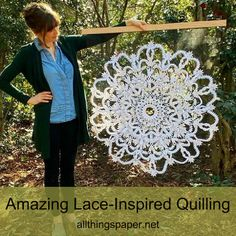 What's old is new again in the hands of Griffin Carrick as she translates antique lace designs into quilled paper art. #wallhanging #quilling #paperart Quilled Paper Art, Paper Quilling, Paper Doilies, Antique Lace, Lace Design, Antiques, Amazing, Scale, Crafts