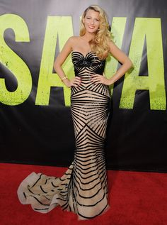 Va-Va-Voom! See the Sexiest Dresses to Hit the Red Carpet in 2012 : Blake Lively had a total bombshell moment, working a Zuhair Murad down the red carpet at the Savages premiere in LA.