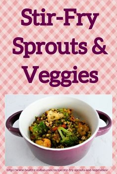 Stir-Fry Sprouts and Vegetables is an easy to prepare delicious recipe, that's packed with nutrition. It goes great with steamed rice and quinoa or just by itself as a snack. Nut Free, Grain Free, Healthy Stir Fry, Steamed Rice, Stir Fry Recipes, Indian Dishes, Healthy Drinks, Quinoa, Sprouts