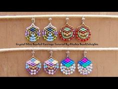 Crystal Glitz Beaded Earrings Tutorial - YouTube