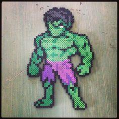 Hulk perler beads by mastablasta3